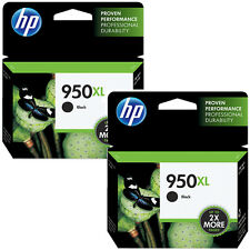 07/2017 2 Pack HP 950XL Black CN045AN Genuine Ink Cartridges Office Jet Pro 8600