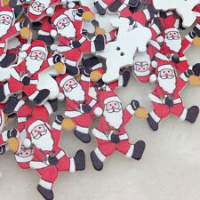 50 pcs Santa Christmas Sewing Tools Buttons for Kid's Craft Decoration WB55