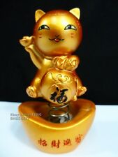 Car Dash Chinese Japanese Lucky Good Luck Waving Bobblehead Paw Up Fortune Cat a