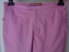 Roxy vida (Quiksilver) Señoras Pantalones de longitud de 3/4 en Rosa Talla 10 inusual Elegante