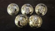 6x Kings Own Scottish Borderers Military Buttons 25mm  Gold
