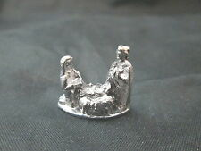 Dollhouse Miniature Unfinished Metal 1 Piece Nativity Set