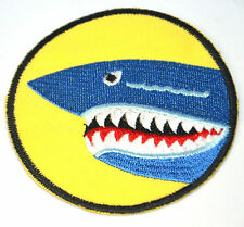 SHARK HEAD TEETH JAWS  Embroidered Iron Sew On Cloth Patch Badge APPLIQUE