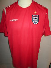 England 2004-2006 Away Football Shirt Size Large short sleeves umbro jersey 06