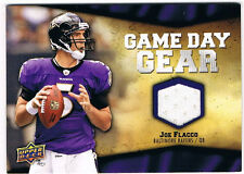 2009 UD Football Game Day Gear Joe Flacco Game Used/Worn Jersey Relic Ravens