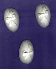 Egg with bow plaster of Paris painting project! Set of 6!