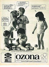 PUBLICITE ADVERTISING  1967   OZONA   sous vetements 1