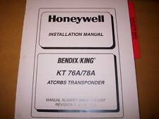 King KT 76A and 78A Transponder Install Manual