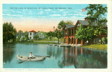 Milwaukee,WI. Boating in Beautiful Mitchell Park 1928