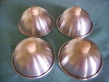 BBQ Hamburguesa adobadora Tapas 4.75in. conjunto de 4 cubiertas de cúpula de fusión Queso