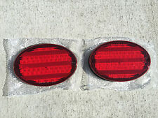 """2 NEW RV CAMPER MOTORHOME TRAILER BUS 52 LED STOP TURN TAIL LIGHT 8"""" OVAL RED"""