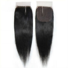 """18"""" Lace Top Closure Invisible Straight Brazilian Virgin Human Hair Extension 6A"""