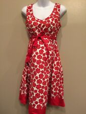 Motherhood Maternity Large Floral Dress With Tiebacks EUC And Ties