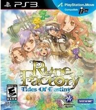 PLAYSTATION 3 PS3 GAME RUNE FACTORY TIDES OF DESTINY BRAND NEW & SEALED