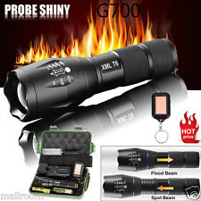 G700 X800 5000LM LED Zoomable  Tactical Taschenlampe Militär Grade Torch lampen