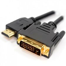 GOLD HDMI TO DVI CABLE 1M GAMES CONSOLE TELEVISION COMPUTER