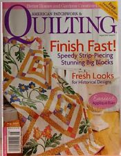 BH&G AMERICAN PATCHWORK & QUILTING Magazine Aug07 Finish Fast FRESH Looks