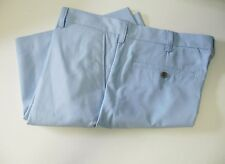 IZOD Mens Lightweight Solid Flat Front Shorts Powder Blue Sz 34W - NWT