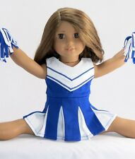 Blue Cheerleading Outfit for 18'' dolls Fits American Girl Dolls, New