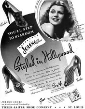 Rita Hayworth Jolene Shoes STYLED IN HOLLYWOOD It Happened in Paris 1940 Ad