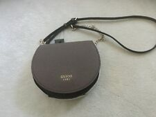 Guess Cate  small leather Brown Multi color Saddle Cross-Body bag