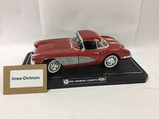 Chevrolet Corvette Red 1958 1/12 Scale Diecast Metal Model Gearbox Toys
