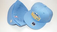 NEW HAT CAP REEBOK FITTED NBA DENVER NUGGETS SIZE 7 3/4 BLUE YELLOW