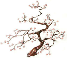Flowering Blossom Tree Enameled Copper Metal Wall Art Sculpture by Bovano-New!