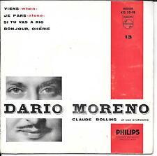 EP 4 TITRES--DARIO MORENO--SI TU VAS A RIO / BONJOUR CHERIE