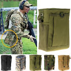 MOLLE Nylon Drop Down Leg Mag Compact Magazine Pouch Holster Bag Tan Army Green