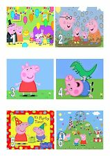 Peppa Pig A4 Iced / Icing / Frosting  Cake Topper Edible Personalised