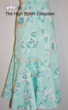PER UNA Green Floral Linen Skirt SIZE 12 BNWT @ £35 ~The High Street Collection