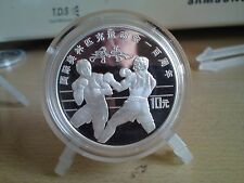 """China silver coin 1994""""Two boxers"""" proof 10 Yuan"""