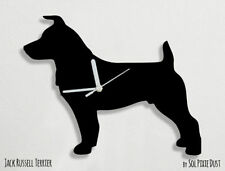 Jack Russell Terrier Dog Silhouette 01 - Wall Clock