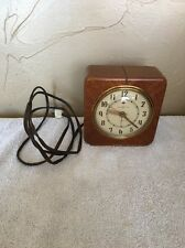 Vintage 1940s GENERAL ELECTRIC Art Deco #7H140 THE DELEGATE Electric Alarm Clock