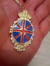 SHAPED LOCKET PENDANT VINTAGE EMPTY Jack Union British