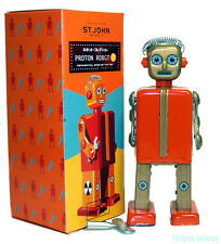 Tin Windup Proton Robot Special Edition St. John Toys NEW!