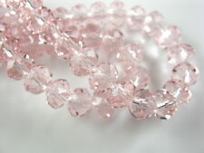 100Pcs Pink Crystal Glass Rondelle Beads 3mm Spacer Jewelry Bracelet Findings
