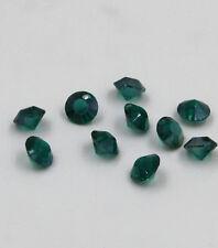 "12 pcs Swarovski 8mm side hole ""Diamond shape"" Crystal bead C Peacock-green"