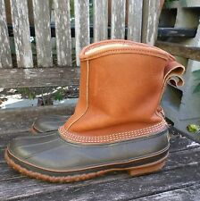 LL BEAN Maine Hunting Shoe slip on leather rubber fleece lined winter boots 12M