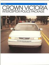 1993 Ford Crown Victoria Police Package Brochure - Mint