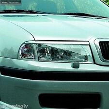 SKODA OCTAVIA 1U 97-04 Headlight eyebrows eyelids brows mask cover eye lid brow