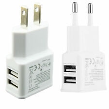 US Plug For Samsung iPhone Dual 2-Port USB Wall Adapter Charger Dock