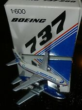 Schabak 1:600 Scale Diecast 905-33 Boeing 737-200 Demo House Colors New