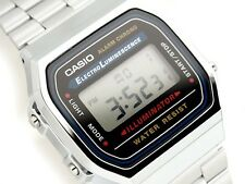 Casio Retro Mens ladies Digital Watch Alarm Silver A168 A168W A168WA-1U Unisex
