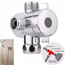 3 Way T-adapter Valve For Toilet Bidet Shower Head Diverter Valve 1/2 Inch New
