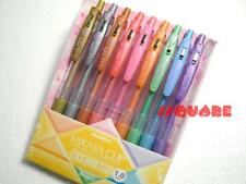 Zebra Sarasa 1.0mm Broad Rollerball Gel pen 9 Colours Set Shiny Series, Japan