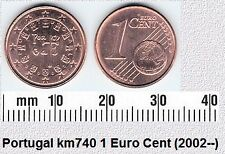PORTUGAL 1 EURO CENT UNC COIN # 2128