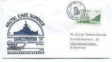 USCGC Northwind WAGB-282 ARCTIC EAST SUMMER Thule Polar Antarctic Cover SIGNED