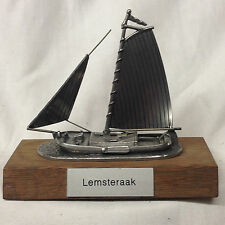 "HOLIDAY INN CROWNE PLAZA AMSTERDAM LEMSTERAAK YACHT BOAT SHIP PEWTER 3.5"" MODEL"